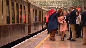 Kate Middleton dances with Paddington Bear